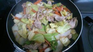回鍋肉の炒め